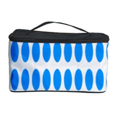 Polka Dots Blue White Cosmetic Storage Case by Mariart