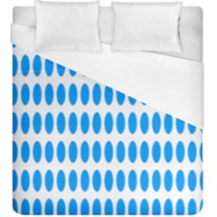 Polka Dots Blue White Duvet Cover (king Size) by Mariart