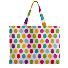 Polka Dot Yellow Green Blue Pink Purple Red Rainbow Color Zipper Mini Tote Bag by Mariart