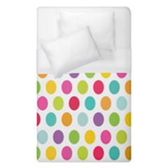 Polka Dot Yellow Green Blue Pink Purple Red Rainbow Color Duvet Cover (single Size) by Mariart