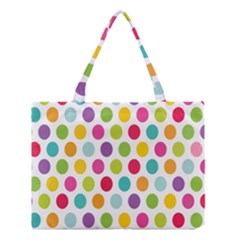 Polka Dot Yellow Green Blue Pink Purple Red Rainbow Color Medium Tote Bag by Mariart