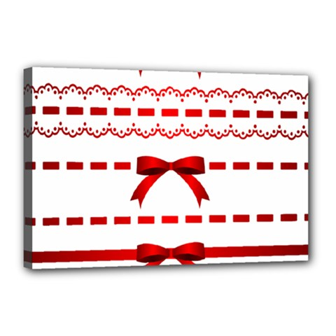 Ribbon Red Line Canvas 18  X 12