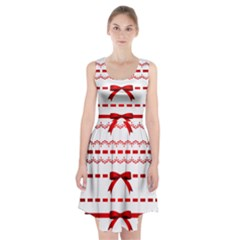 Ribbon Red Line Racerback Midi Dress by Mariart