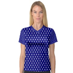 Rainbow Polka Dot Borders Colorful Resolution Wallpaper Blue Star Women s V Neck Sport Mesh Tee by Mariart