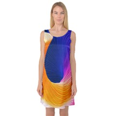 Wave Waves Chefron Color Blue Pink Orange White Red Purple Sleeveless Satin Nightdress by Mariart