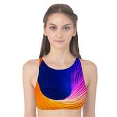 Wave Waves Chefron Color Blue Pink Orange White Red Purple Tank Bikini Top by Mariart