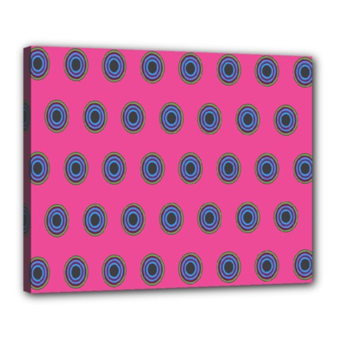 Polka Dot Circle Pink Purple Green Canvas 20  X 16  by Mariart