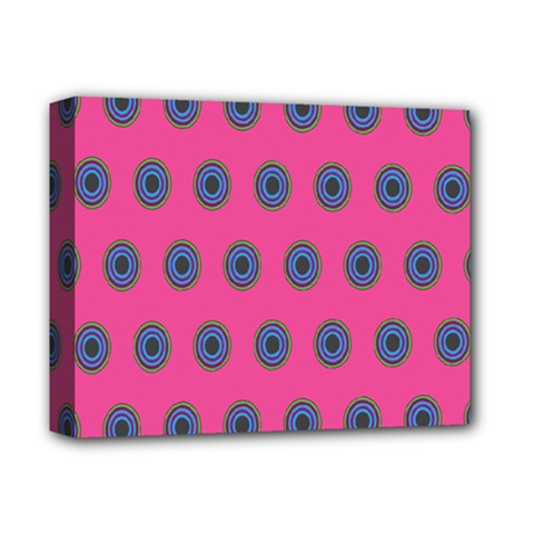 Polka Dot Circle Pink Purple Green Deluxe Canvas 14  X 11  by Mariart