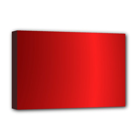 Red Gradient Fractal Backgroun Deluxe Canvas 18  X 12   by Simbadda