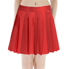 Red Gradient Fractal Backgroun Pleated Mini Skirt