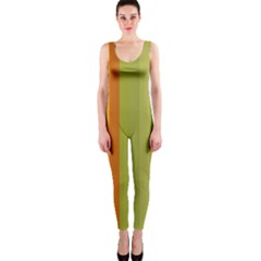 Colorful Citrus Colors Striped Background Wallpaper Onepiece Catsuit by Simbadda