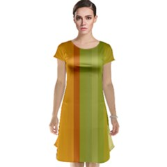 Colorful Citrus Colors Striped Background Wallpaper Cap Sleeve Nightdress