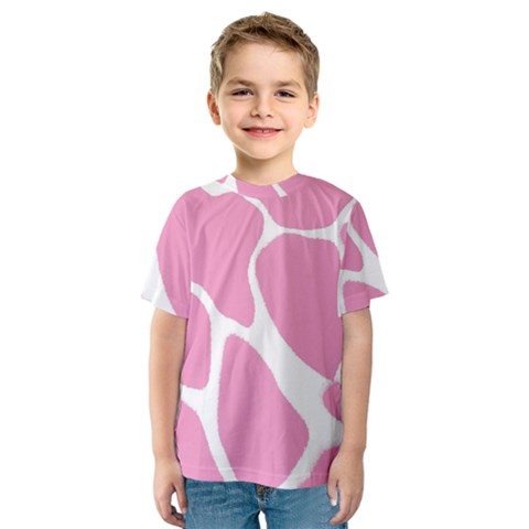 Baby Pink Girl Pattern Colorful Background Kids  Sport Mesh Tee by Simbadda
