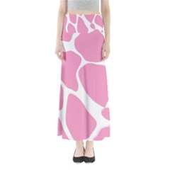 Baby Pink Girl Pattern Colorful Background Maxi Skirts