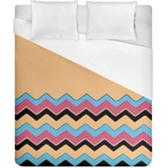 Chevrons Patterns Colorful Stripes Background Art Digital Duvet Cover (california King Size)