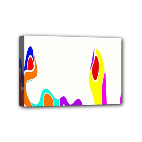 Simple Abstract With Copyspace Mini Canvas 6  X 4  by Simbadda