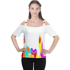 Simple Abstract With Copyspace Women s Cutout Shoulder Tee by Simbadda