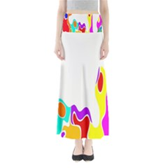 Simple Abstract With Copyspace Maxi Skirts