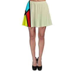 Digitally Created Abstract Page Border With Copyspace Skater Skirt by Simbadda