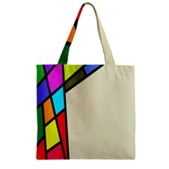 Digitally Created Abstract Page Border With Copyspace Zipper Grocery Tote Bag by Simbadda