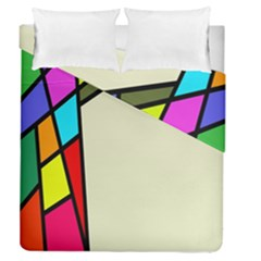 Digitally Created Abstract Page Border With Copyspace Duvet Cover Double Side (queen Size) by Simbadda