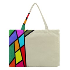Digitally Created Abstract Page Border With Copyspace Medium Tote Bag by Simbadda