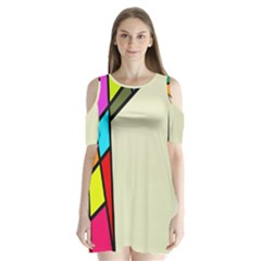Digitally Created Abstract Page Border With Copyspace Shoulder Cutout Velvet  One Piece