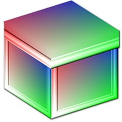 3d Rgb Glass Frame Storage Stool 12