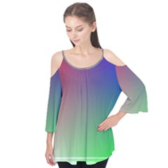 3d Rgb Glass Frame Flutter Tees by Simbadda