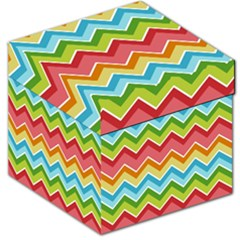 Colorful Background Of Chevrons Zigzag Pattern Storage Stool 12   by Simbadda