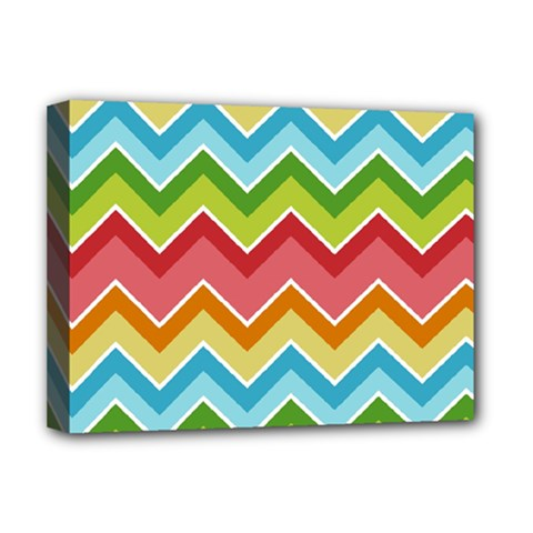 Colorful Background Of Chevrons Zigzag Pattern Deluxe Canvas 16  X 12