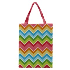 Colorful Background Of Chevrons Zigzag Pattern Classic Tote Bag by Simbadda
