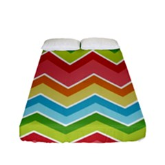 Colorful Background Of Chevrons Zigzag Pattern Fitted Sheet (full/ Double Size) by Simbadda