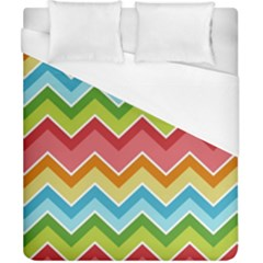 Colorful Background Of Chevrons Zigzag Pattern Duvet Cover (california King Size) by Simbadda