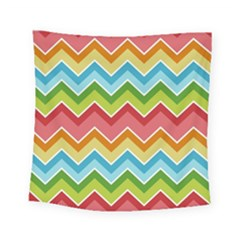 Colorful Background Of Chevrons Zigzag Pattern Square Tapestry (small) by Simbadda