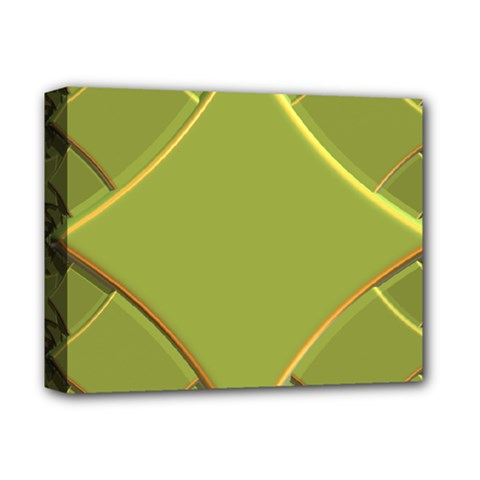 Fractal Green Diamonds Background Deluxe Canvas 14  X 11  by Simbadda