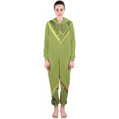 Fractal Green Diamonds Background Hooded Jumpsuit (ladies)