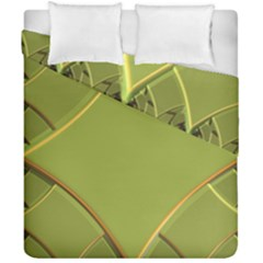 Fractal Green Diamonds Background Duvet Cover Double Side (california King Size)