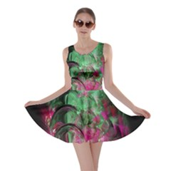 Pink And Green Shapes Make A Pretty Fractal Image Skater Dress