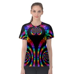 Fractal Drawing Of Phoenix Spirals Women s Sport Mesh Tee by Simbadda