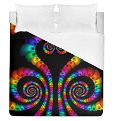 Fractal Drawing Of Phoenix Spirals Duvet Cover (queen Size) by Simbadda