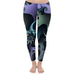 Fractal Image With Sharp Wheels Classic Winter Leggings by Simbadda