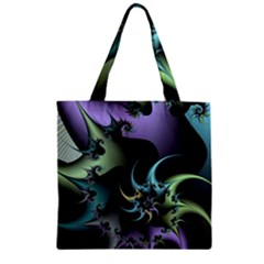 Fractal Image With Sharp Wheels Zipper Grocery Tote Bag by Simbadda