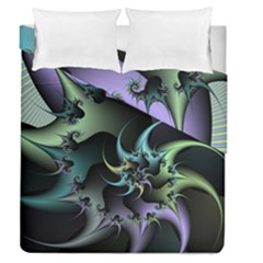 Fractal Image With Sharp Wheels Duvet Cover Double Side (queen Size)