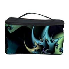 Fractal Image With Sharp Wheels Cosmetic Storage Case by Simbadda