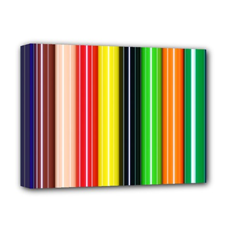 Stripes Colorful Striped Background Wallpaper Pattern Deluxe Canvas 16  X 12