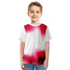 Abstract Pink Page Border Kids  Sport Mesh Tee