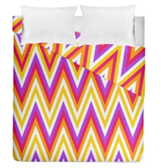 Colorful Chevrons Zigzag Pattern Seamless Duvet Cover Double Side (queen Size)