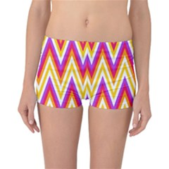 Colorful Chevrons Zigzag Pattern Seamless Reversible Bikini Bottoms