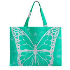 Butterfly Cut Out Flowers Zipper Mini Tote Bag by Simbadda